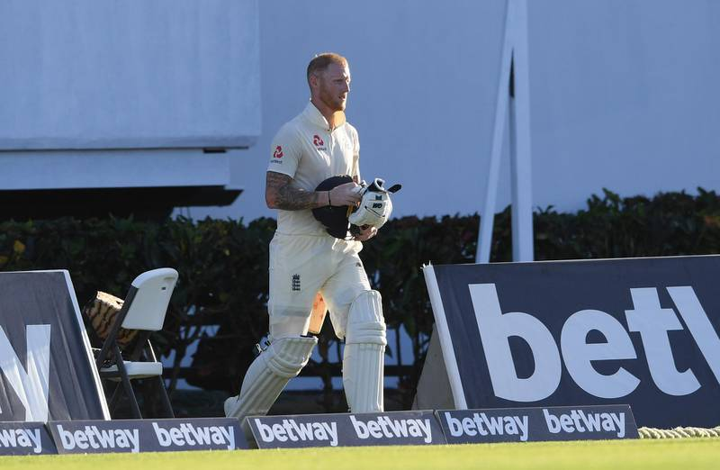 GROS ISLET, SAINT LUCIA - FEBRUARY 09:  Ben Stokes of England returns to the pitch after a no ball decision during Day One of the Third Test match between the West Indies and England at Daren Sammy Cricket Ground on February 09, 2019 in Gros Islet, Saint Lucia. (Photo by Shaun Botterill/Getty Images,)