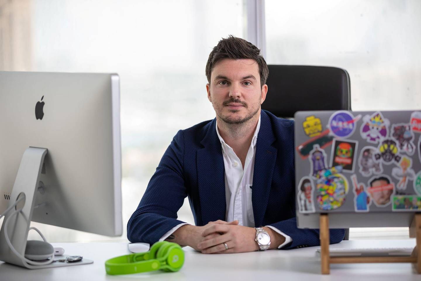 Dubai, United Arab Emirates- interview with Jon Richards, founder and chief executive of Yallacompare. Grace Guino for The National for Alice Haine's story