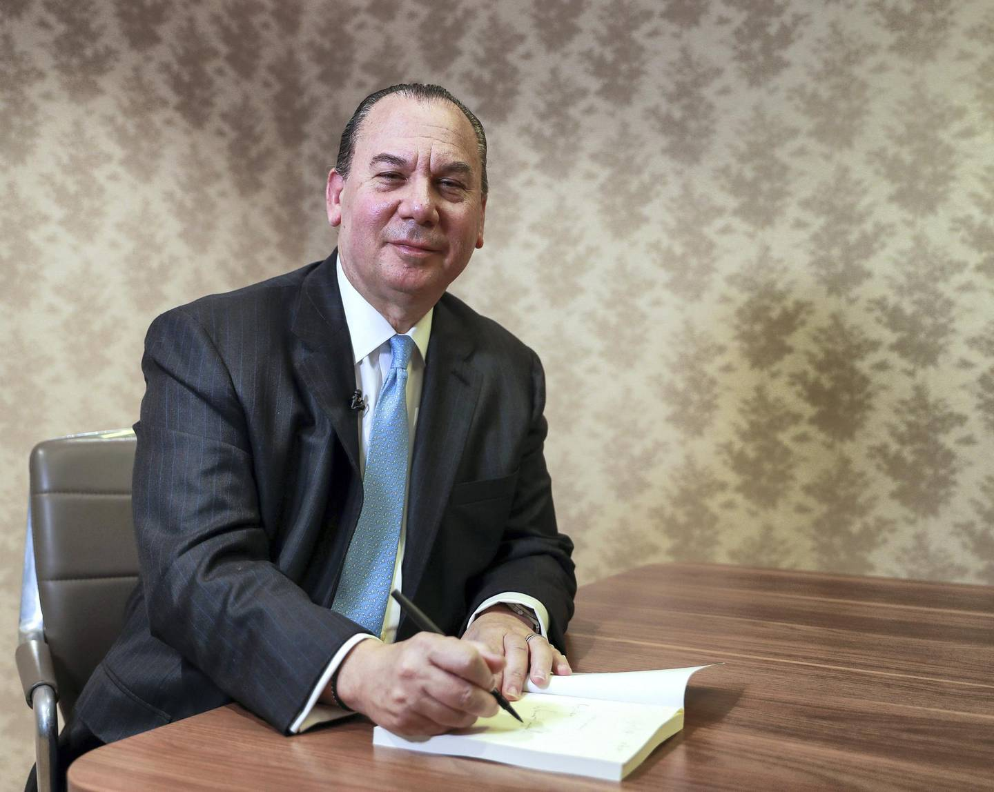 Abu Dhabi, U.A.E., February 4, 2019.   Rabbi Marc Schneier interview at The National office.Victor Besa/The NationalSection:  NAReporter:  Gillian Duncan