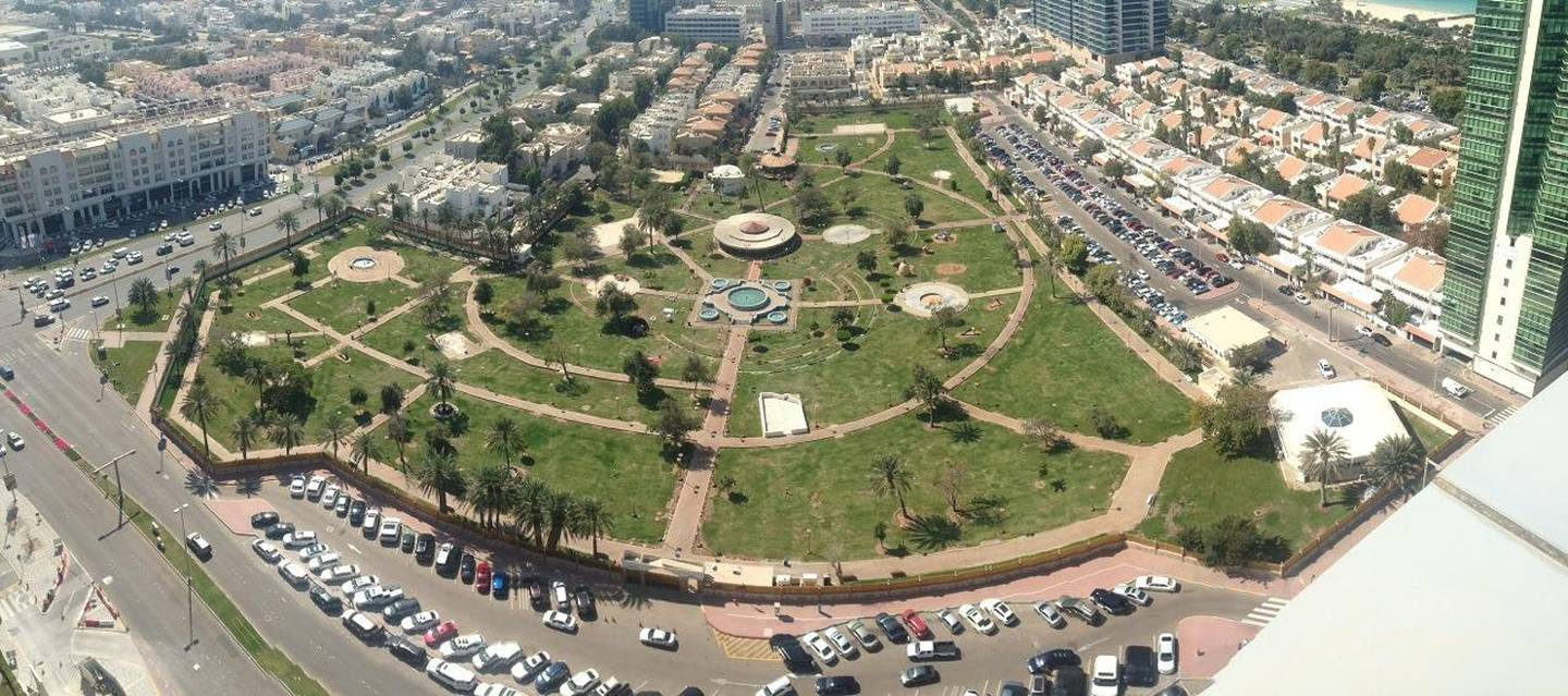Provided photo - aerial view of Provided  Sheikha Fatima Park in the Khalidiya area of Abu Dhabi. Abu Dhabi Municpality will renovate the park. The renovation project costs Dh94 million, and covers an area of ??46,000 square metersCourtesy Abu Dhabi Municipality  *** Local Caption ***  IMG_1449.jpeg