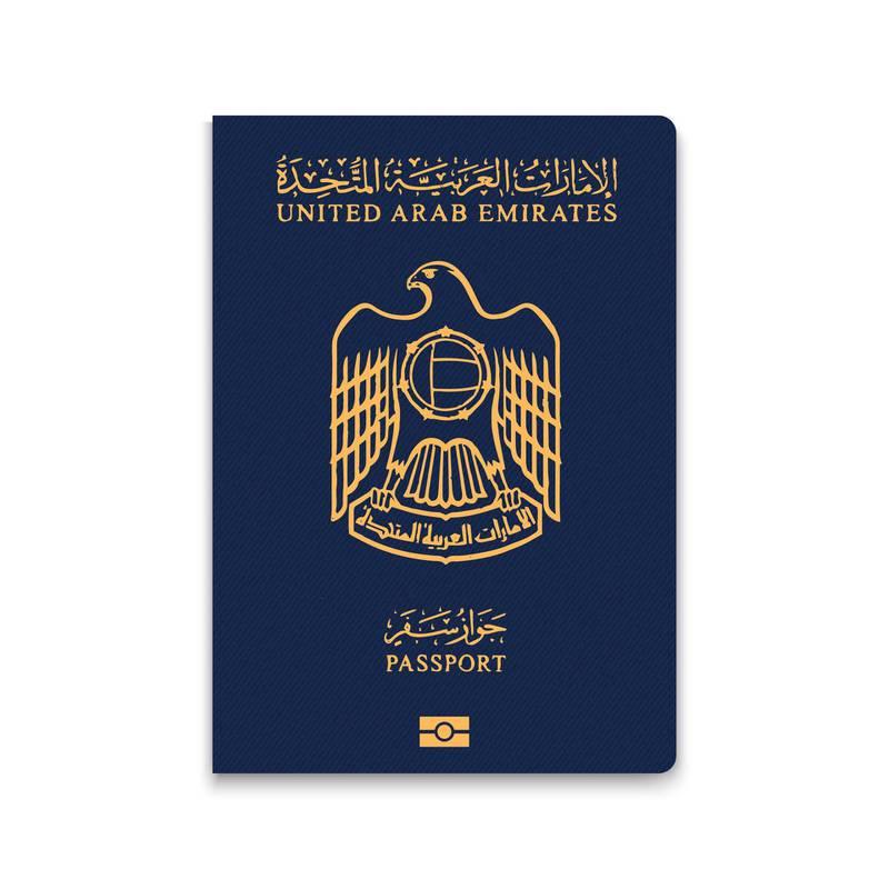 MJ5JDX Passport of United Arab Emirates. Alamy