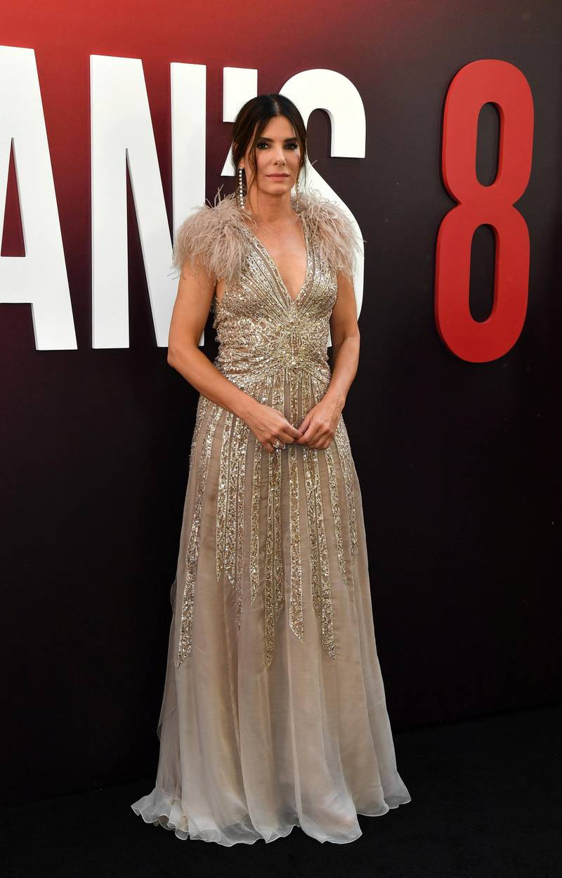 US actress Sandra Bullock arrives for the World Premiere of OCEAN'S 8 June 5, 2018 in New York. - OCEAN'S 8 will be released nationwide on June 8, 2018. (Photo by Angela WEISS / AFP)