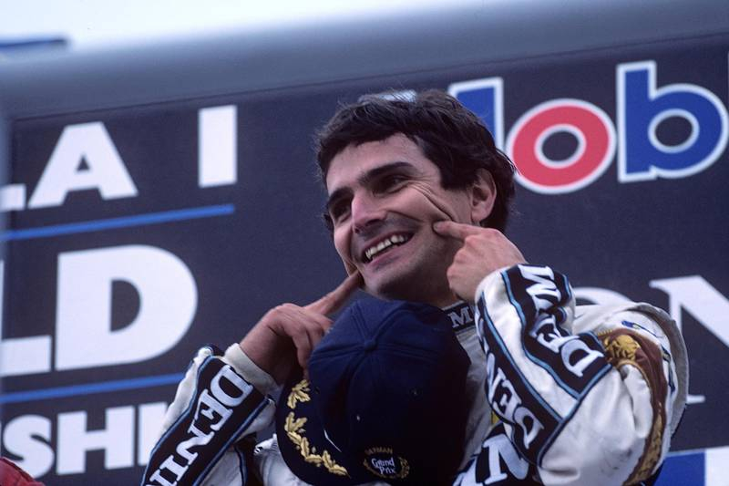 Nelson Piquet, Grand Prix of Hungary, Hungaroring, 09 August 1987. (Photo by Paul-Henri Cahier/Getty Images)