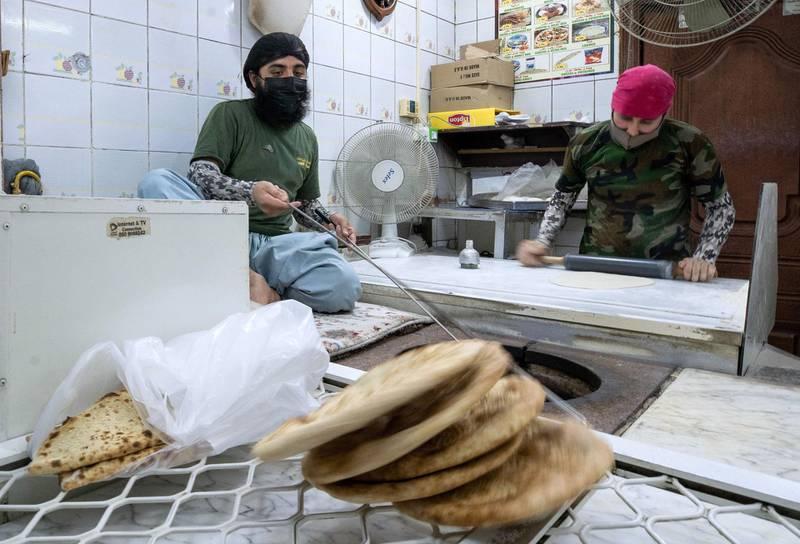Abu Dhabi, United Arab Emirates, October  11, 2020.  Khalidiya by night article by Saeed Saeed on restaurants, café's on Al Yahar Street.  Century Bakery.Victor Besa/The NationalSection:  NAReporter:  Saeed Saeed
