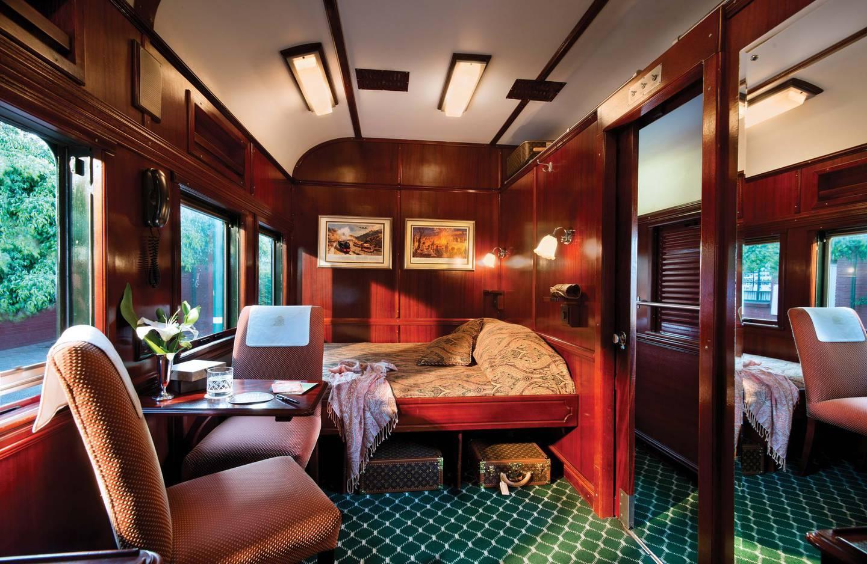 Deluxe Cross on Rovos train. Courtesy Rovos Rail Tours