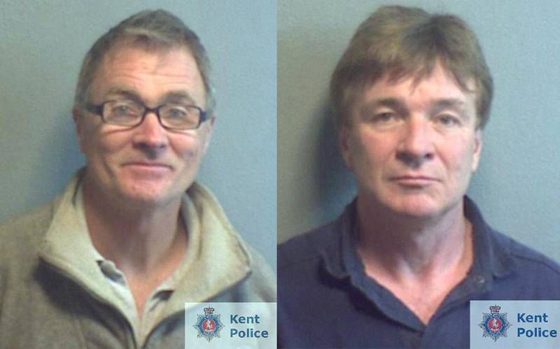 Experienced diver Nigel Ingram (left) dived down to the wreck of the Hermes to steal from the sunken ship. John Blight owned the trawler used to retrieve relics from the bottom of the sea. Courtesy Kent Police)