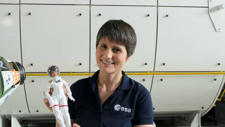 An image that illustrates this article Astronaut Barbie doll jets off on zero gravity flight with Samantha Cristoforetti