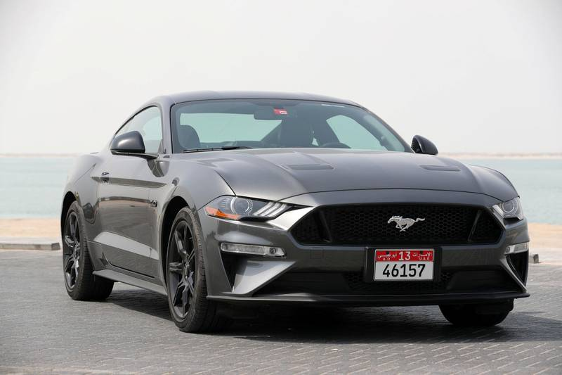 Abu Dhabi, United Arab Emirates - July 10th, 2018: Ford Mustang road test shoot. Tuesday, July 10th, 2018 in Abu Dhabi. Chris Whiteoak / The National