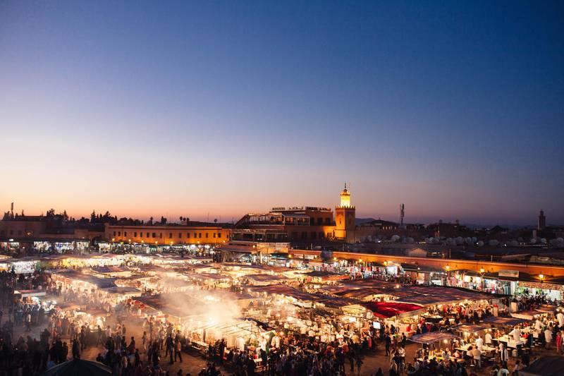 Djema El-Fna, Marrakech. Courtesy Naya Traveler