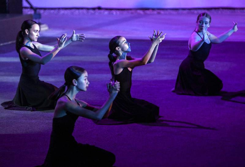 Abu Dhabi, United Arab Emirates - Ballet dancers perform at the opening night of the first Middle East outpost of Berklee College of Music in Abu Dhabi, Al Saadiyat. Khushnum Bhandari for The National