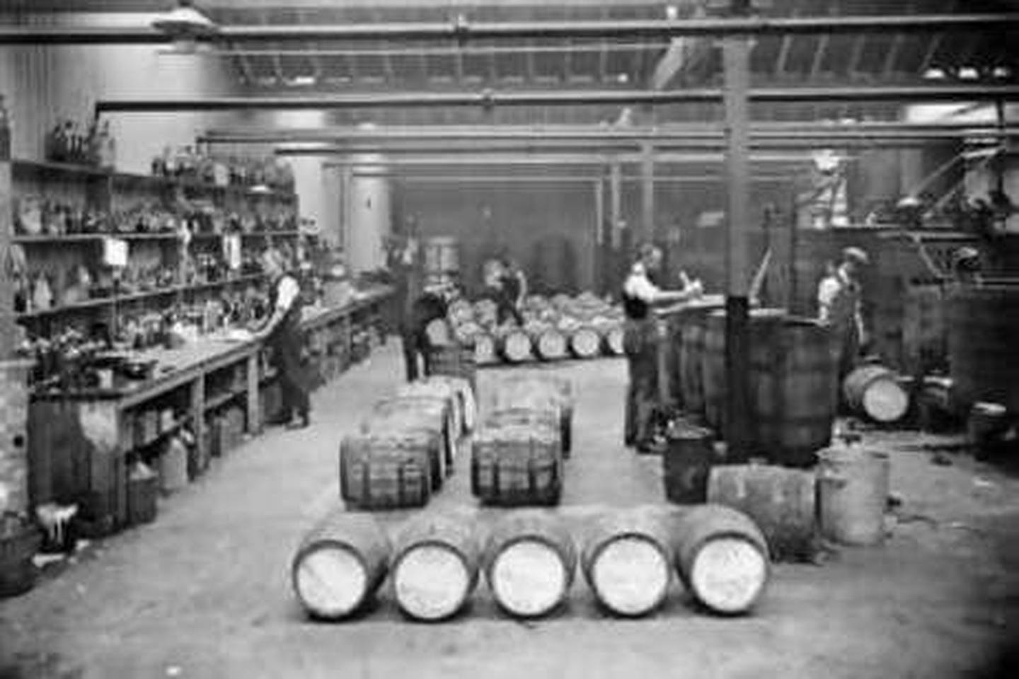 This handout image from 1928 TV shows the soft drink Vimto being produced . No credit *** Local Caption ***  Ph Ayres Rd  Vimto Dept 1928  1 (VIM_4_4_1_10).jpg