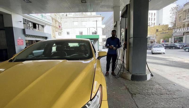 Taxi driver Razwan Najjar says his daily earnings go towards gas and car rental. Amy McConaghy / The National