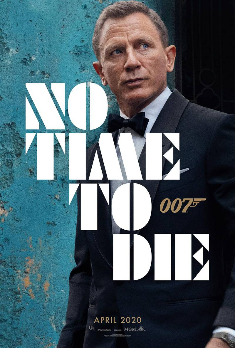 No Time To Die poster featuring Daniel Craig. Courtesy MGM