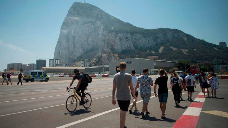 An image that illustrates this article Gibraltar avoids hard EU border after last-gasp UK-Spain deal
