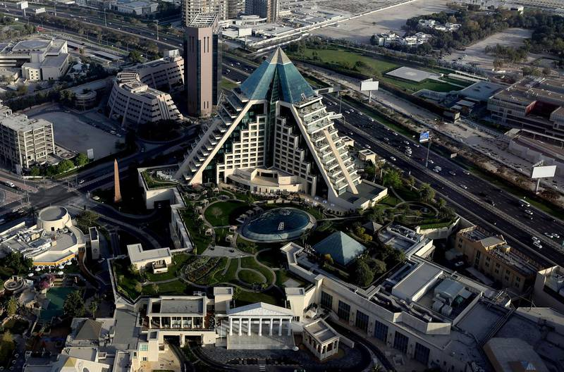 Dubai, United Arab Emirates - Reporter: N/A. Standalone. General view of Dubai including Wafi mall. Tuesday, March 23rd, 2021. Dubai. Chris Whiteoak / The National