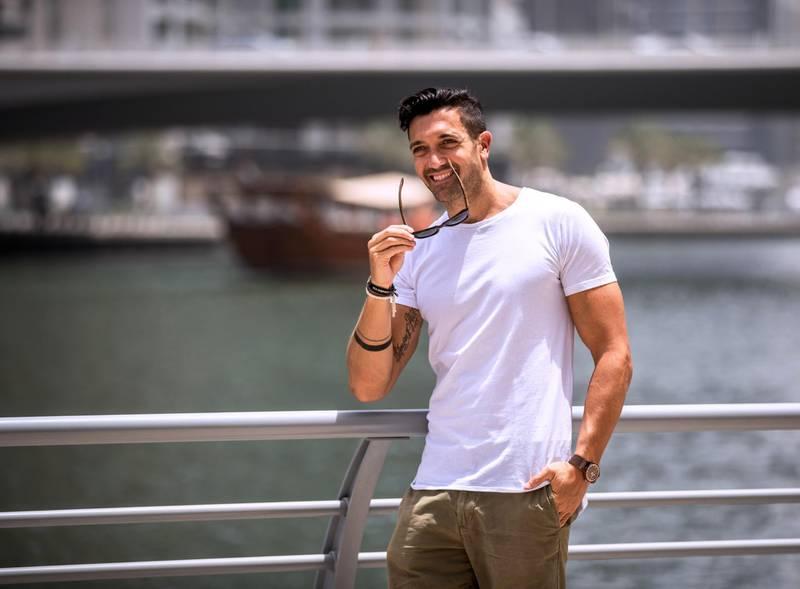 Dubai. U.A.E., June 30, 2018.  Luke Morris, runs Wild Wood, an ethical wooden sunglasses company. Victor Besa / The NationalReporter:  David DunnSection:  Business