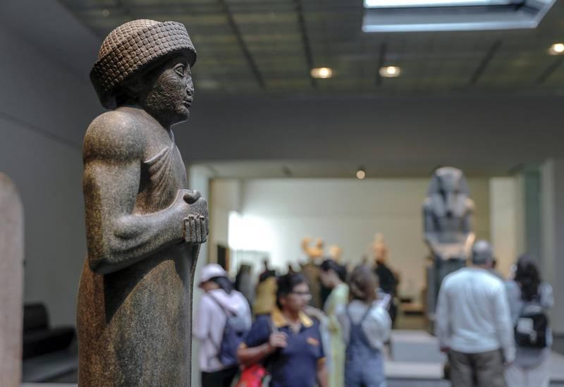 Abu Dhabi, United Arab Emirates, March 12, 2020.  Stock Images;  The Louvre Abu Dhabi.  Shot November 19, 2019.Gudea, prince of Lagash; Neo-Sumerian kingdom, Iraq.Victor Besa / The NationalSection:  NA standaloneReporter: