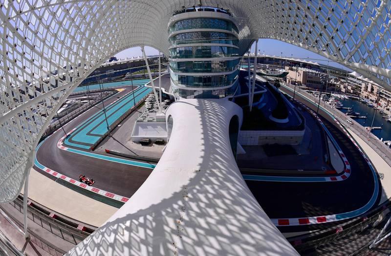 Formula One F1 - Abu Dhabi Grand Prix - Yas Marina Circuit, Abu Dhabi, United Arab Emirates - December 11, 2020  General view of Ferrari's Sebastian Vettel during practice  Giuseppe Cacace/Pool via REUTERS     TPX IMAGES OF THE DAY