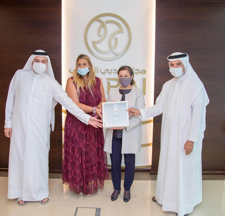 Marion Bartoli, the former French tennis star and 2013 Wimbledon champion, visits Dubai Sports Council, reveals plans to open tennis academy in Dubai. Courtesy Dubai Sports Council