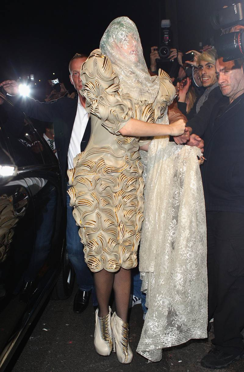 SYDNEY, AUSTRALIA - JULY 11:  Lady Gaga arrives at Nevermind Nightclub on July 11, 2011 in Sydney, Australia. Lady Gaga fans gathered outside two Sydney nightclubs in hopes to catch a glimpse of the singer after she sent a cryptic tweet suggesting her she'd be stopping by the venues.  (Photo by Marianna Massey/Getty Images)