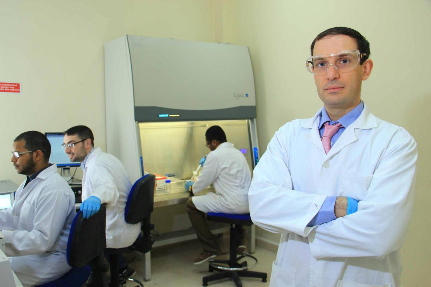 Ghaleb Husseini, professor of chemical engineering at the College of Engineering at the  American University of Sharjah. He is among a group of 20 academics who were granted the golden or long-term visa for the UAE. Prof Husseini's work includes creating nano carriers or capsules that will transport chemotherapy directly to the site of a cancerous tumour so the patient does not suffer side effects.Courtesy:  Prof Ghaleb Husseini