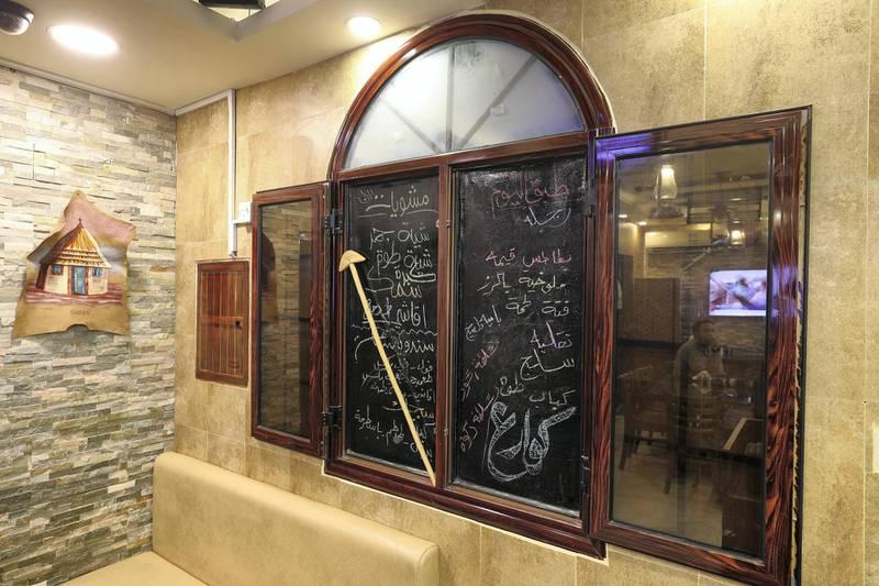 Abu Dhabi, United Arab Emirates - July 24, 2019: Al Mufraka restaurant, one of Abu DhabiÕs small number of Sudanese restaurants. Wednesday the 24th of July 2019. Abu Dhabi. Chris Whiteoak / The National