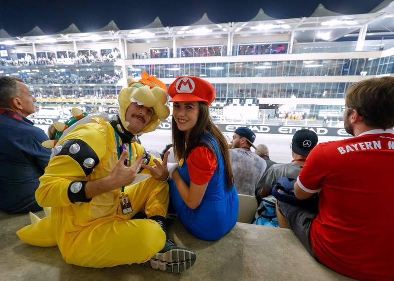 Abu Dhabi, United Arab Emirates, December 1, 2019.   Formula 1 Etihad Airways Abu Dhabi Grand Prix. --  Race fans at the Main Grandstand. Grand Prix. Victor Besa / The National Victor Besa / The National Section:  SP Reporter:  Simon Wilgress-Pipe