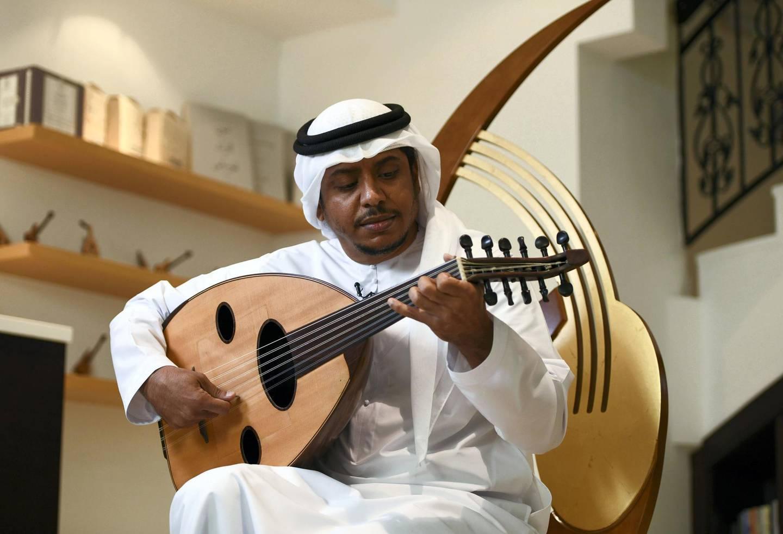 Abu Dhabi, United Arab Emirates - Mohammed  Dohai, Oud instructor at Bait Al Oud conservatory in Abu Dhabi. Khushnum Bhandari for The National