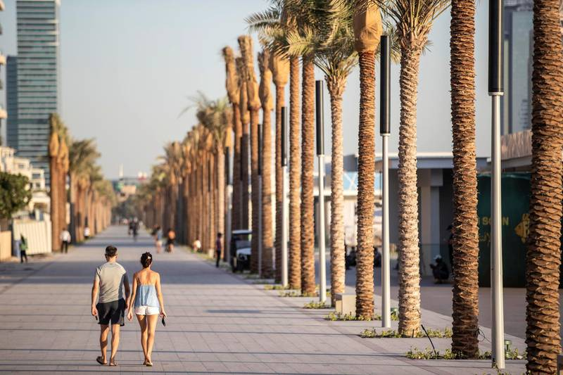 DUBAI, UNITED ARAB EMIRATES. 15 OCTOBER 2020. Newly opened West Beach located on The Palm Dubai.  (Photo: Antonie Robertson/The National) Journalist: Sophie Prideaux Section: National.