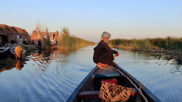 An image that illustrates this article Climate change, pollution and dams threaten Iraq's marshlands - in pictures