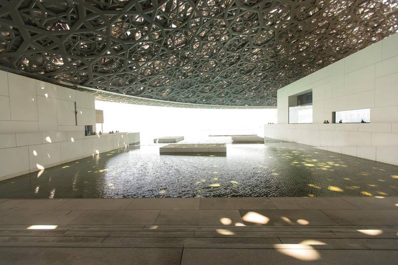Abu Dhabi, United Arab Emirates, June 22, 2017:     General view of the Louvre Abu Dhabi construction site on Saadiyat Island in Abu Dhabi on June 22, 2017. Christopher Pike / The NationalReporter: James Langston, Nick LeechSection: Louvre *** Local Caption ***  CP0622-Louvre-07.JPG