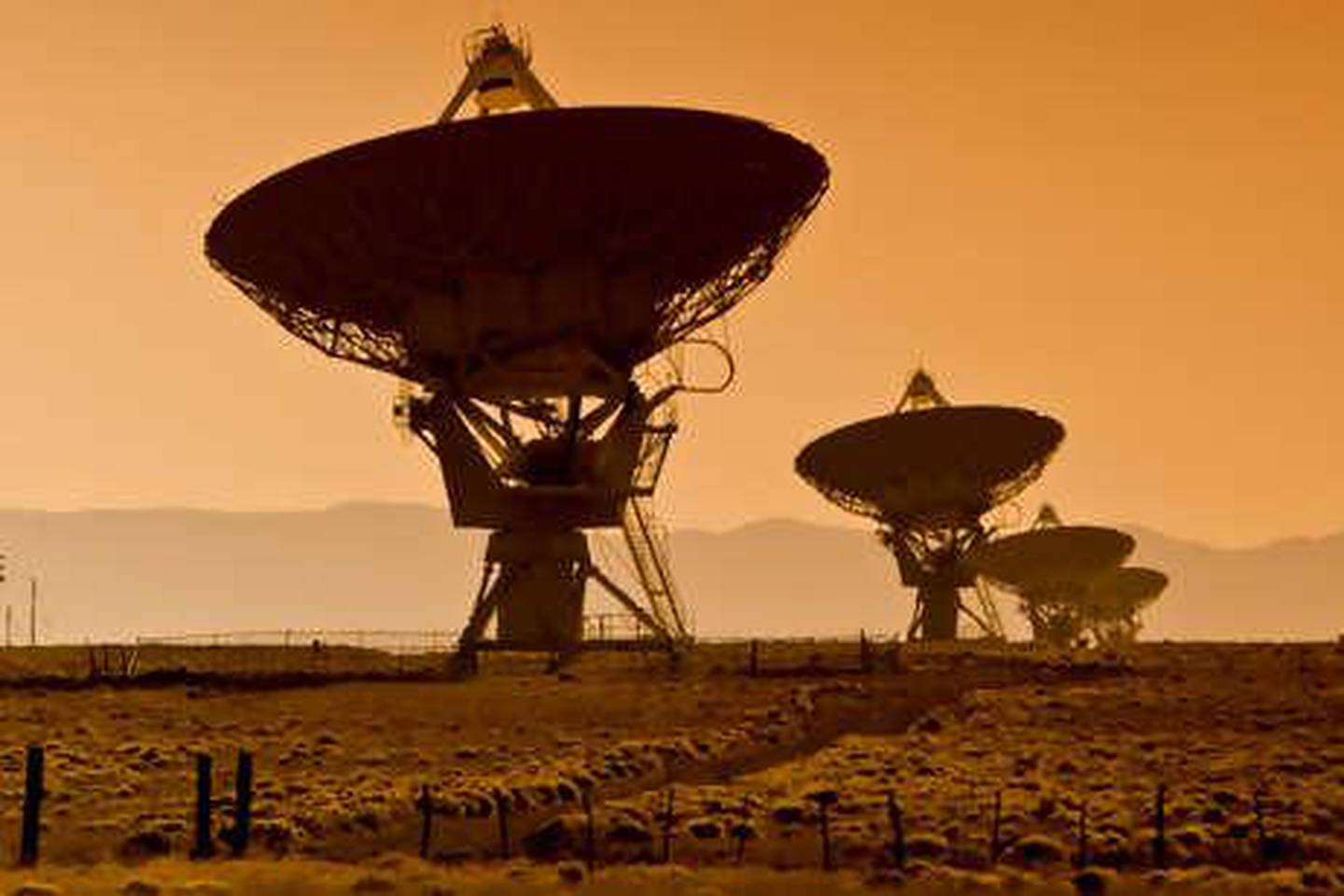 USA, New Mexico, VLA Very Large Array of the National Radio Astronomy Observatory