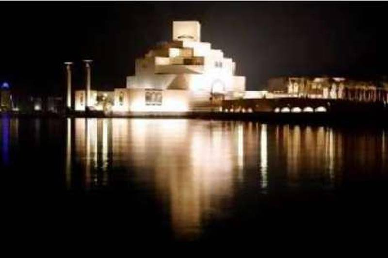 A general view shows the Museum of Islamic Art in Doha, Qatar, Monday, Dec. 1, 2008. Qatar's Islamic museum, designed by the famous American architect I.M. Pei, opened to public on Monday as this tiny, oil-rich nation challenges its Gulf rivals  Dubai and Abu Dhabi  in the quest for international attention and outside investment.(AP Photo/Hassan Ammar) *** Local Caption ***  HAS108_Travel_Trip_Qatar_Islamic_Museum.jpg