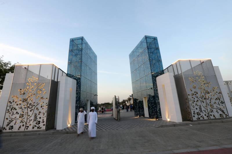 Visitors are seen outside Dubai's Quranic Park in Dubai, UAE April 6, 2019. Picture taken April 6, 2019. REUTERS/Satish Kumar