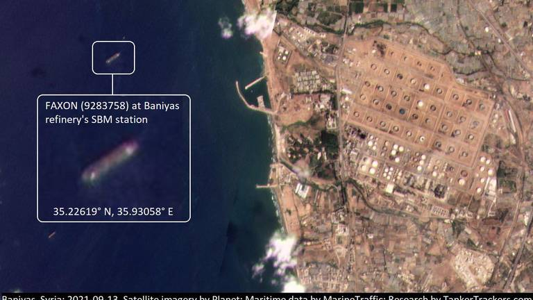 An image that illustrates this article Iranian tanker found discharging fuel for Lebanon at Syria port
