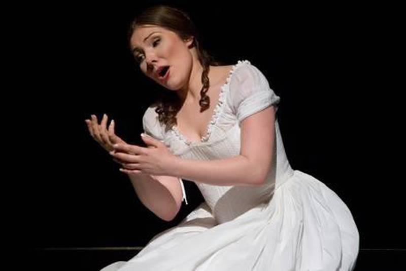 "A handout photo showing Ekaterina Siurina performing as Amina at ""La Sonnambula"" opera, Michigan Opera Theatre (Photo by John Grigaitis)"