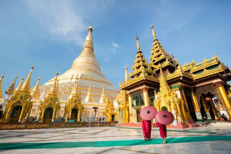 Shwedagon pagoda, Yangon Myanmar (Getty Images) *** Local Caption ***  wk07ap-tr-crowns-myanmar.jpg