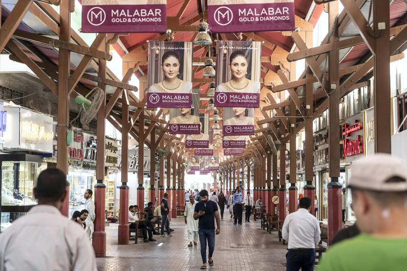 DUBAI, UNITED ARAB EMIRATES.  02 JULY 2018. The Gold Souk in Deira is due for an upgrade by the Munisipality. (Photo: Antonie Robertson/The National) Journalist: Anam Rizvi. Section: National.
