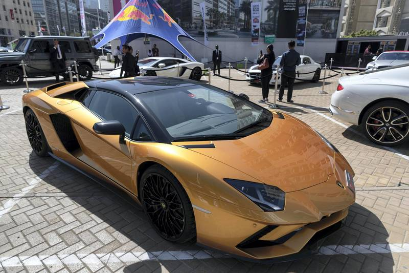 DUBAI, UNITED ARAB EMIRATES. 12 November 2019. Super cars and luxury models at the Dubai Motor Show opening day. (Photo: Antonie Robertson/The National) Journalist: Nic Webster. Section: National.