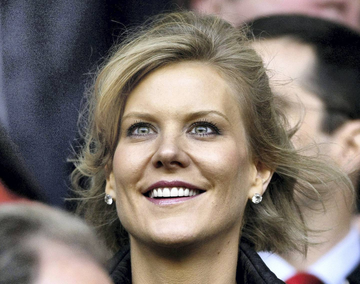 Dubai International Capital's chief negotiator Amanda Staveley smiles before the Champions League semi-final first leg soccer match between Liverpool and Chelsea at Anfield in Liverpool, northern England, April 22, 2008. REUTERS/Phil Noble/File Photo - S1AETKHIQSAA