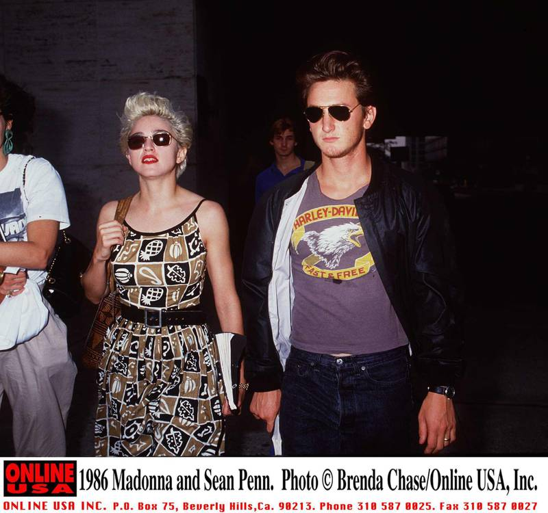 1986 Madonna and Sean Penn.