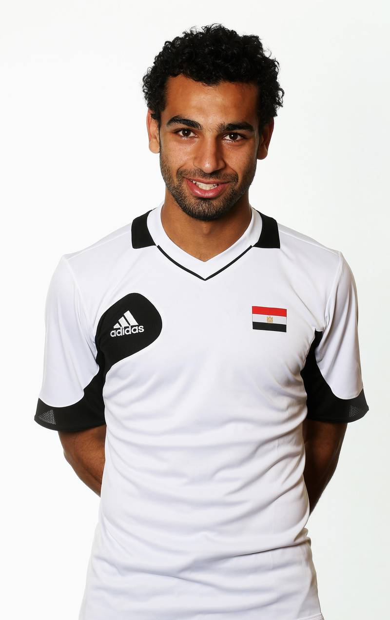 CARDIFF, WALES - JULY 22: Mohamed Salah of the Egypt Men's Olympic Football Team at the Hilton Hotel on July 22, 2012 in Cardiff, Wales.  (Photo by Joern Pollex/Getty Images)