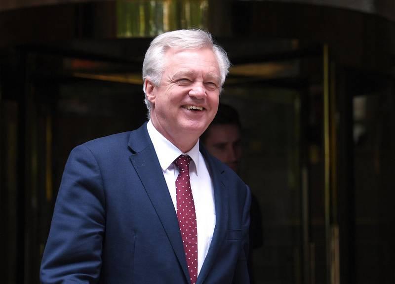 Brexit Secretary David Davis leaves a television studio in central London, Britain August 15, 2017.  REUTERS/Hannah McKay