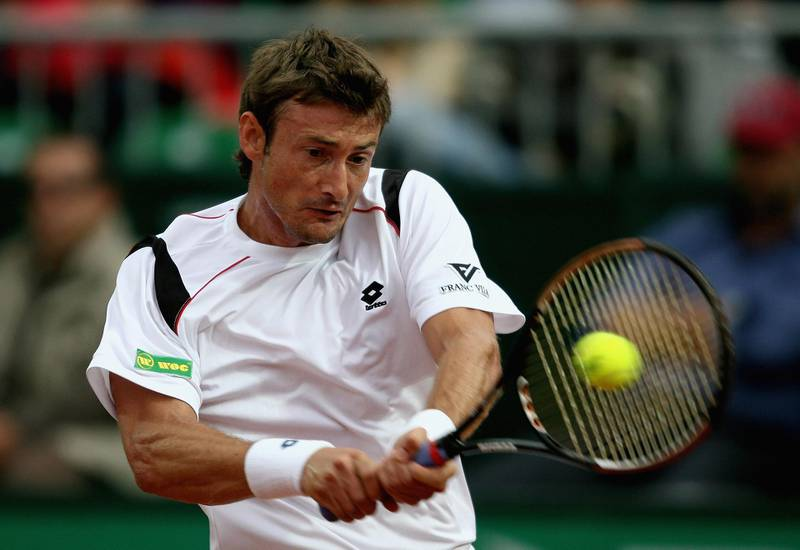 ROME - MAY 07:  Juan Carlos Ferrero of Spain in action against Rafael Nadal of Spain during their second round match at the ATP Masters Series at the Foro Italico, on May 7, 2008 in Rome, Italy.  (Photo by Clive Brunskill/Getty Images)*** Local Caption *** Juan Carlos Ferrero