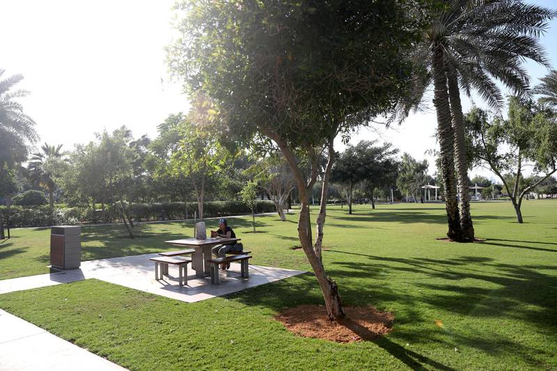 Abu Dhabi, United Arab Emirates - December 13, 2018: Al Umm Al Emarat Park, 15th Street, Mushrif Area. Pictures of different parks all over Abu Dhabi. Thursday the 13th of December 2018 in Abu Dhabi. Chris Whiteoak / The National