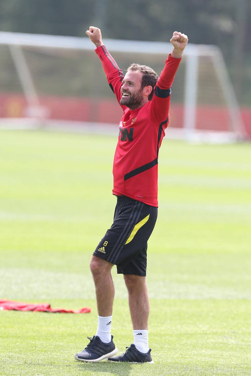 MANCHESTER, ENGLAND - JUNE 17: (EXCLUSIVE COVERAGE) Juan Mata of Manchester United at Aon Training Complex on June 17, 2020 in Manchester, England. (Photo by Matthew Peters/Manchester United via Getty Images)