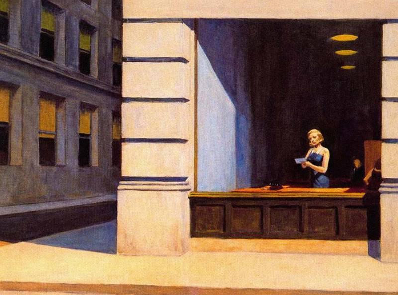 E0332X Edward Hopper New York Office. Alamy