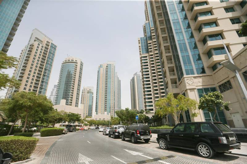 Dubai , UNITED ARAB EMIRATES. July 23, 2015  - Stock photograph of the Boulevard buildings by Emaar Properties in Downtown Dubai, July 23, 2015. (Photo by: Sarah Dea/The National, Story by: STANDALONE, STOCK) *** Local Caption ***  SDEA230715-STOCK_downtown23.JPG