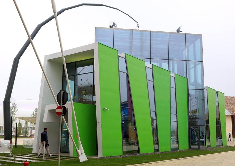 MILAN, ITALY - MAY 01:  A general view of  Moldova Pavillions - Expo 2015 at Fiera Milano Rho on May 1, 2015 in Milan, Italy.  (Photo by Vincenzo Lombardo/Getty Images)