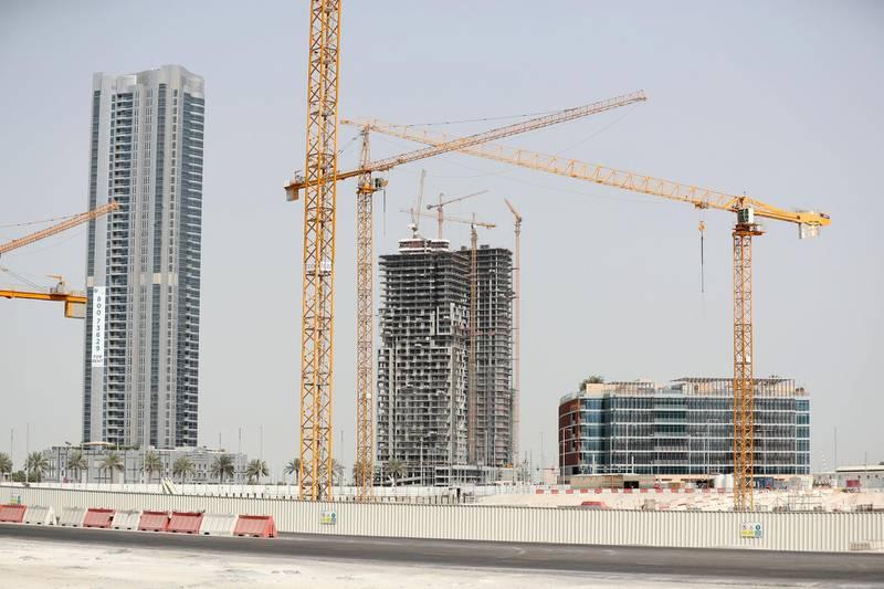 Abu Dhabi, United Arab Emirates - June 5th, 2018: Standalone. Construction. Building work on Al Reem Island. Tuesday, June 5th, 2018 at Al Reem Island, Abu Dhabi. Chris Whiteoak / The National